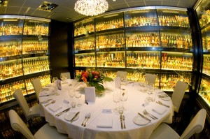 Dining in the whisky vault