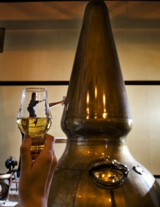 The stills are scrubbing up nicely for tomorrow's Auchentoshan whisky Festival