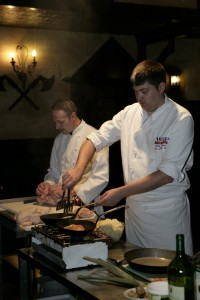 Fungi cookery demo at the forth Inn. Pic: Phil Crowder Photgraphy