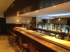 The bar at Woodland Creatures on Leith Walk
