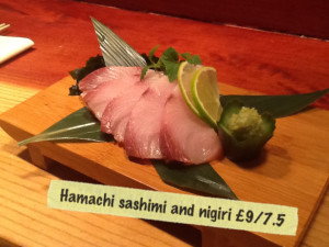 Sashimi is a big part of the offer at Yatai