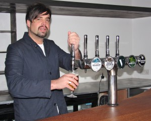 Richard McLelland mans the taps at The Vintage in Leith
