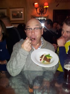 Pudding-fancier Gregg Wallace at Ryan's in Edinburgh