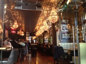 No shortage of chandeliers at The Angel's Share