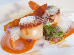 Local seafood such as scallops are favourites at Airds Hotel and Restaurant
