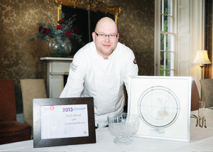 David Littlewood of Raemoir House Hotel with his most recent award.