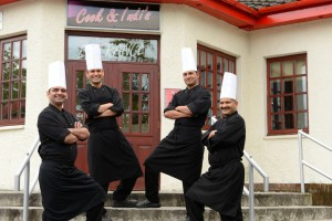 The Kitchen crew at Cook and Indi's Bishopbriggs