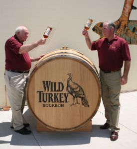 Jimmy and Eddie Russell get to grips with another Wild Turkey barrel