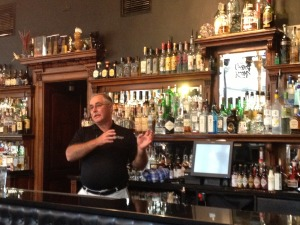 Eddie Russell explains the finer points of Wild Turkey at the Voodoo Rooms