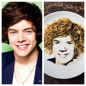 Harry Styles who, of course, is in the band Wok Direction