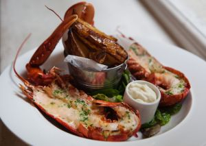 Lobster at the Pommery pop-up