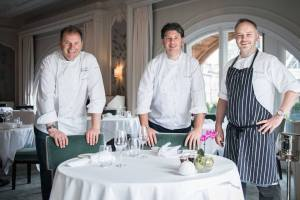 Jeff and Chris Galvin with Craig Sandle, Executive Chef at The Pompadour by Galvin