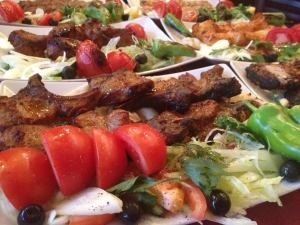 Charcoal-grilled kebabs at Babylon on Leith Walk
