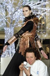 Tom Kitchin and the Nespresso dress light up Multrees Walk, Edinburgh