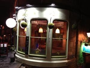 Laila's Bistro by night
