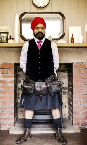 Tony Singh is just one of the chefs who will be swinging his kilt on Sunday.