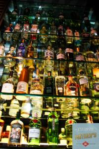 A small selection of the gin collection at Mother's.