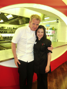 Gordon Ramsay and Jian Wang of Chop Chop.