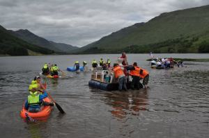 The raft race is always a highlight of Mhor Festival.