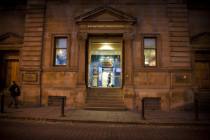 The Pipers' Tryst restaurant is in Glasgow's National Piping Centre.