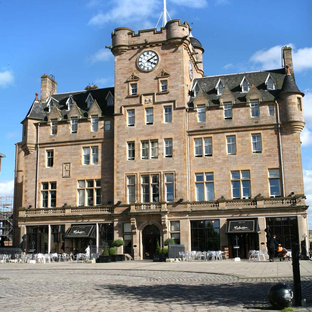 Malmaison Edinburgh in the sunshine.