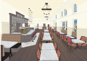 A possible version of the third floor restaurant.