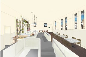 Plans for the third floor restaurant at Contini Caffe.