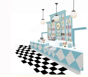 An ice cream counter features in the plans for Contini Caffe.