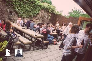 The busy beer garden at The Tinsmith. Pic via Facebook