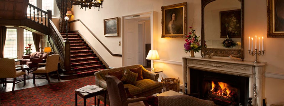 The elegant interior at Ballathie House Hotel: feel the peace.
