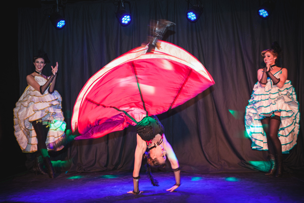 Dinner has a theatrical element at Wild Cabaret and Wicked Lounge.