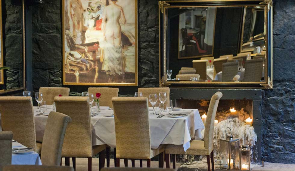 The Stockbridge Restaurant has a romantic atmosphere.