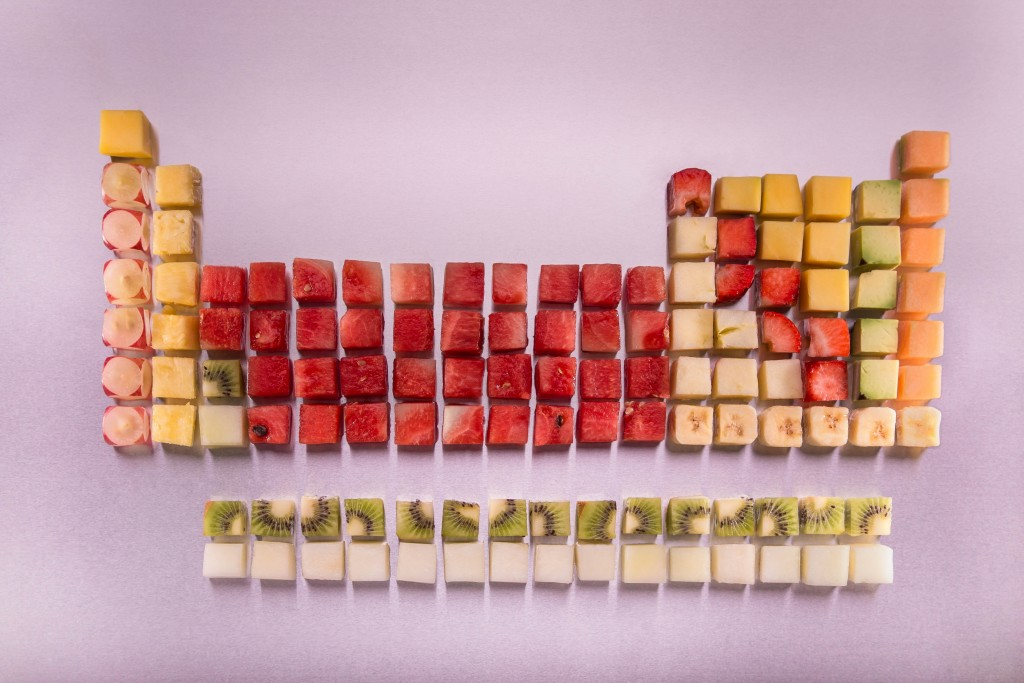The periodic table of fruit. Science gets tasty at Gastrofest. Pic by Aly Wight Photography.