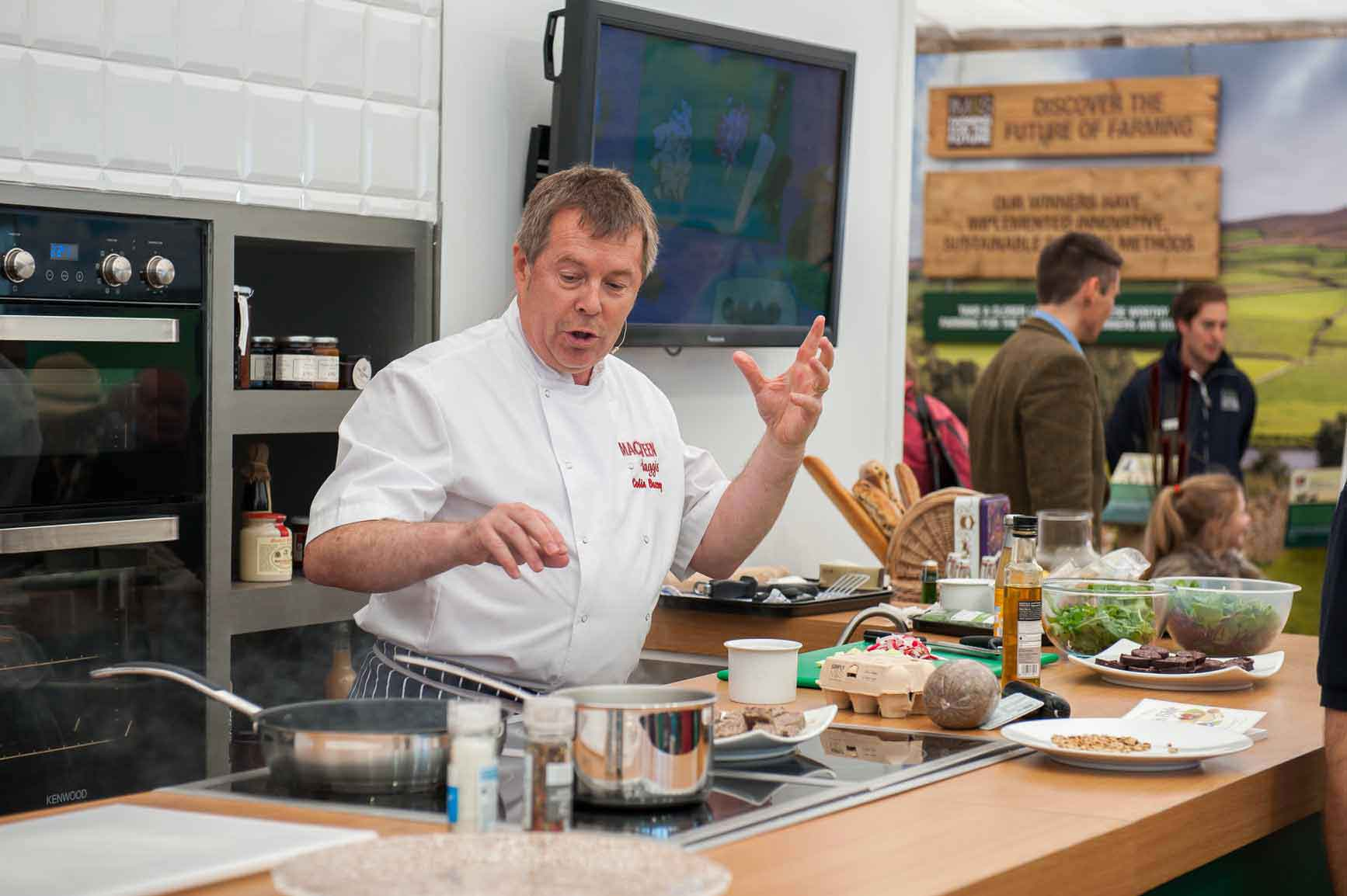 Macsween chef Colin Bussey will be demonstrating the versatility of haggis.