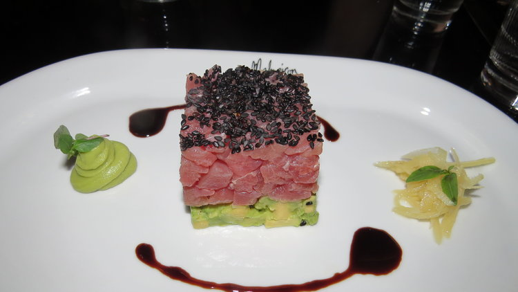Ahi tuna starter in the brasserie.