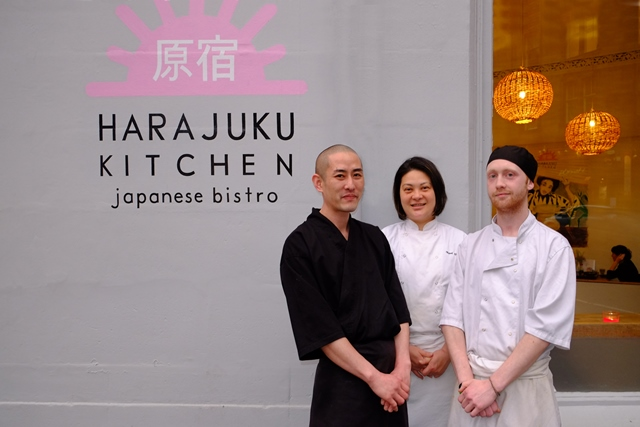 The Harajuku chefs with Kaori in the centre.