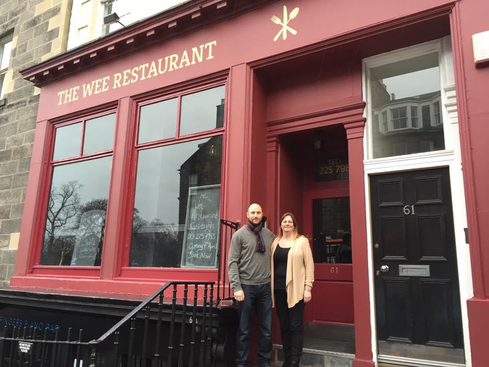 Craig and Vikki Wood outside their new restaurant.