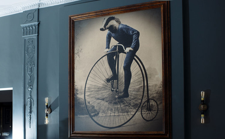 'Is that a badger on a bike or have I had one snifter too many?'