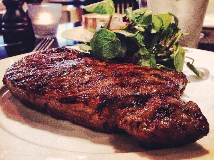 Monster steaks are on the menu at Dakota Deluxe.