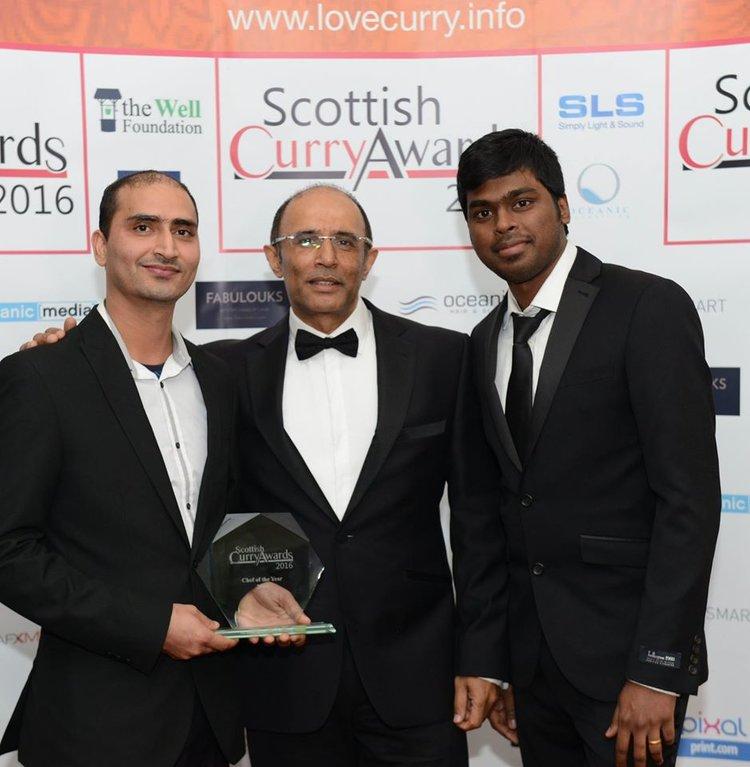 Sunil Thakur, Hans Raj Ram, CEO of Goldtsar Chefs and Peter Janampally.