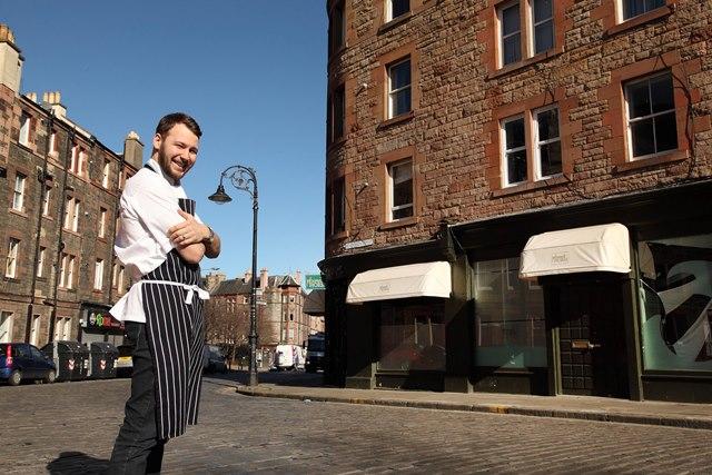 Chef Scott Smith outside Norn.