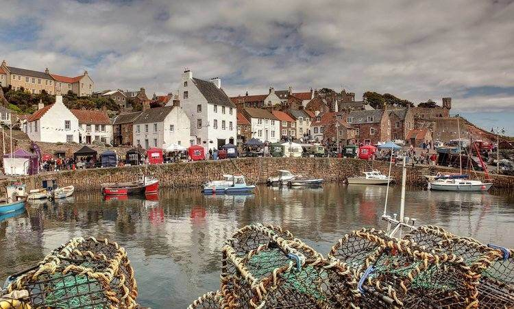The working harbour provides a beautiful setting for Crail Food Fest events.