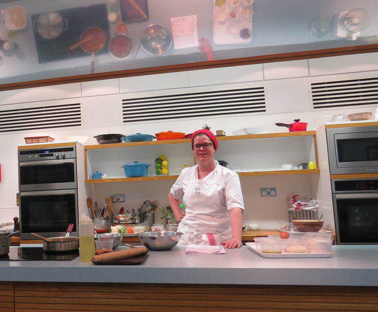 Jess Shepherd taking control in the kitchen.