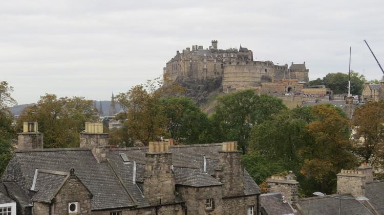 Edinburgh skyline from Tower Restaurant.