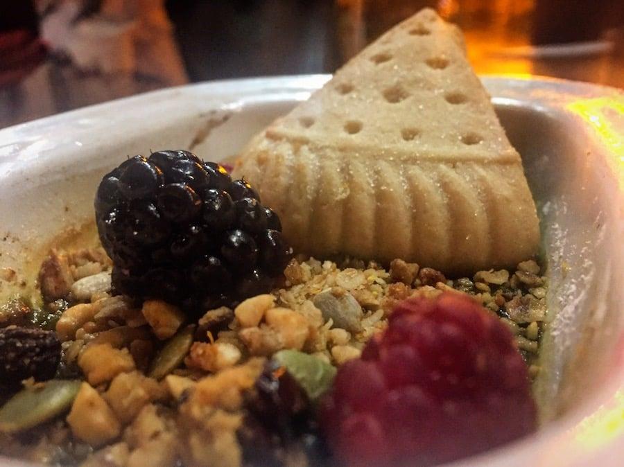 Matcha green tea crème brûlée & shortbread - new menu at the Hyndland Fox