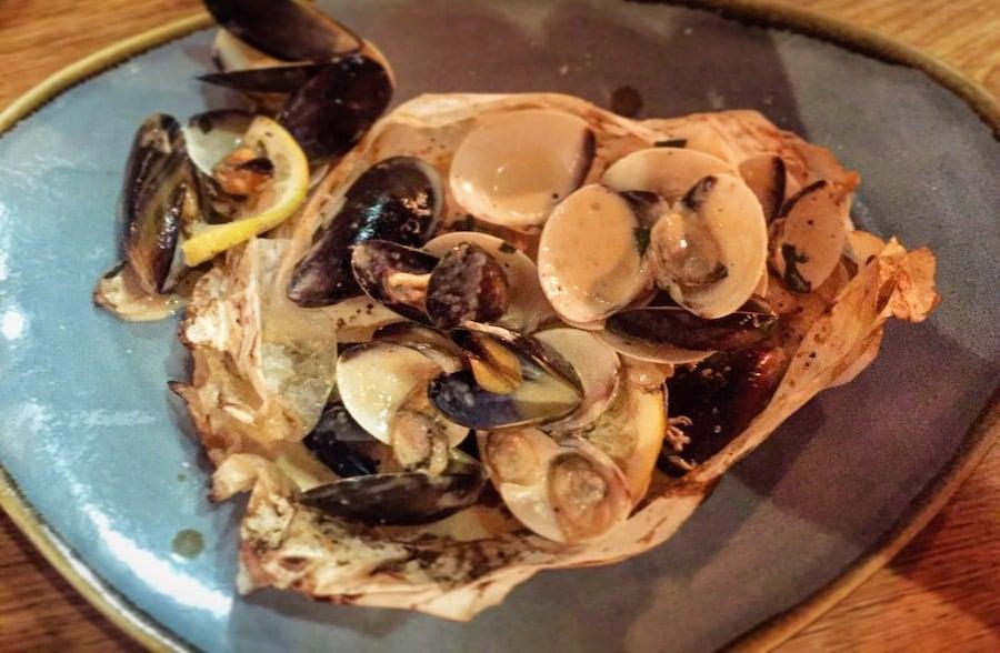 Sea bass en papillote - new menu at the Hyndland Fox