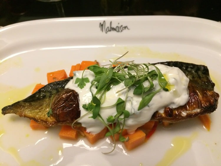 spring menu at Malmaison