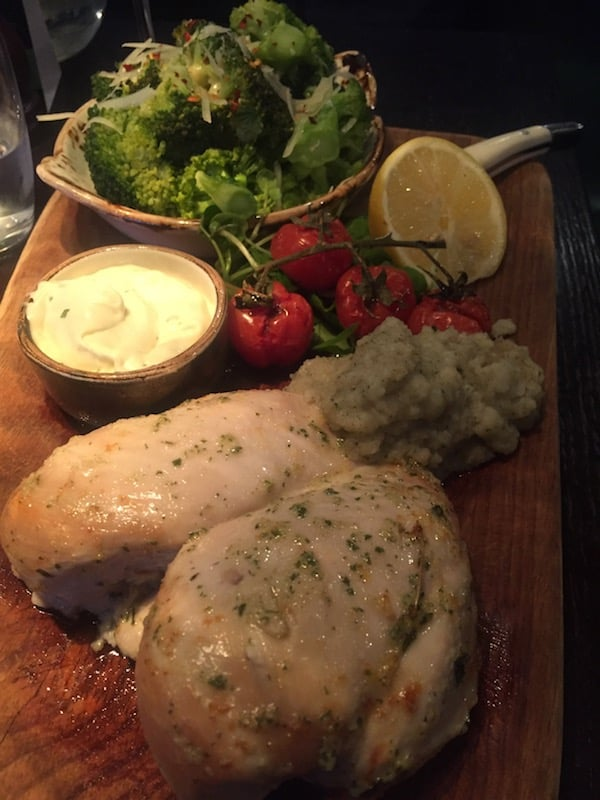 The Village Hotel Glasgow -Lemon and thyme roasted double chicken breast