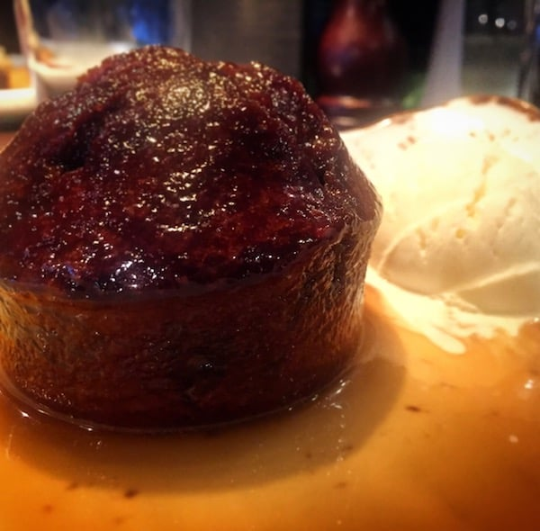 Verve Grill at The Village Hotel - Sticky toffee pudding