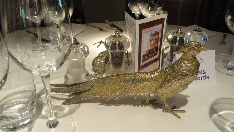 Every well dressed table should have a pheasant.